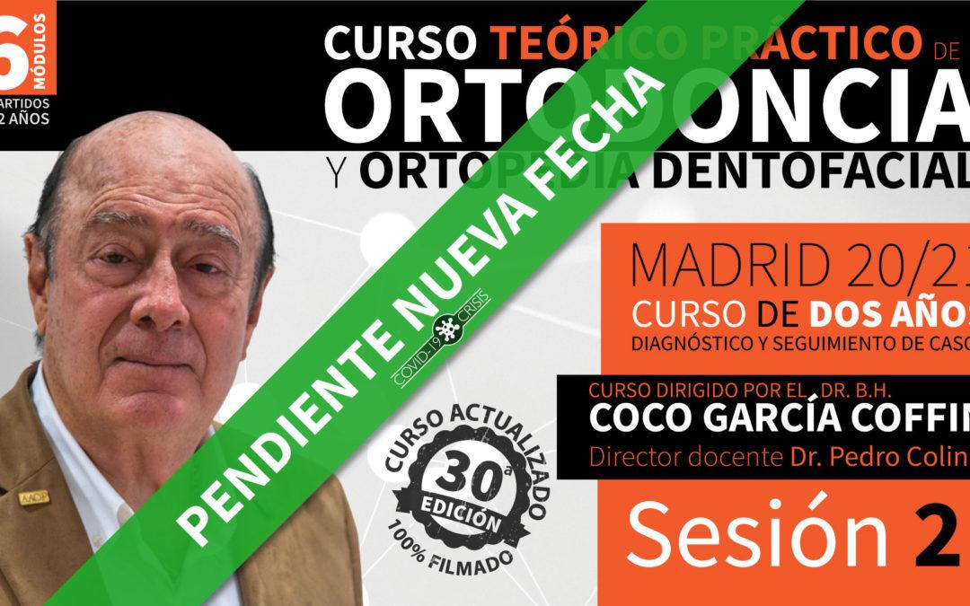 Curso Ortodoncia y Ortopedia Dentofacial (2 años – 20/21) Sesión 2 de 6