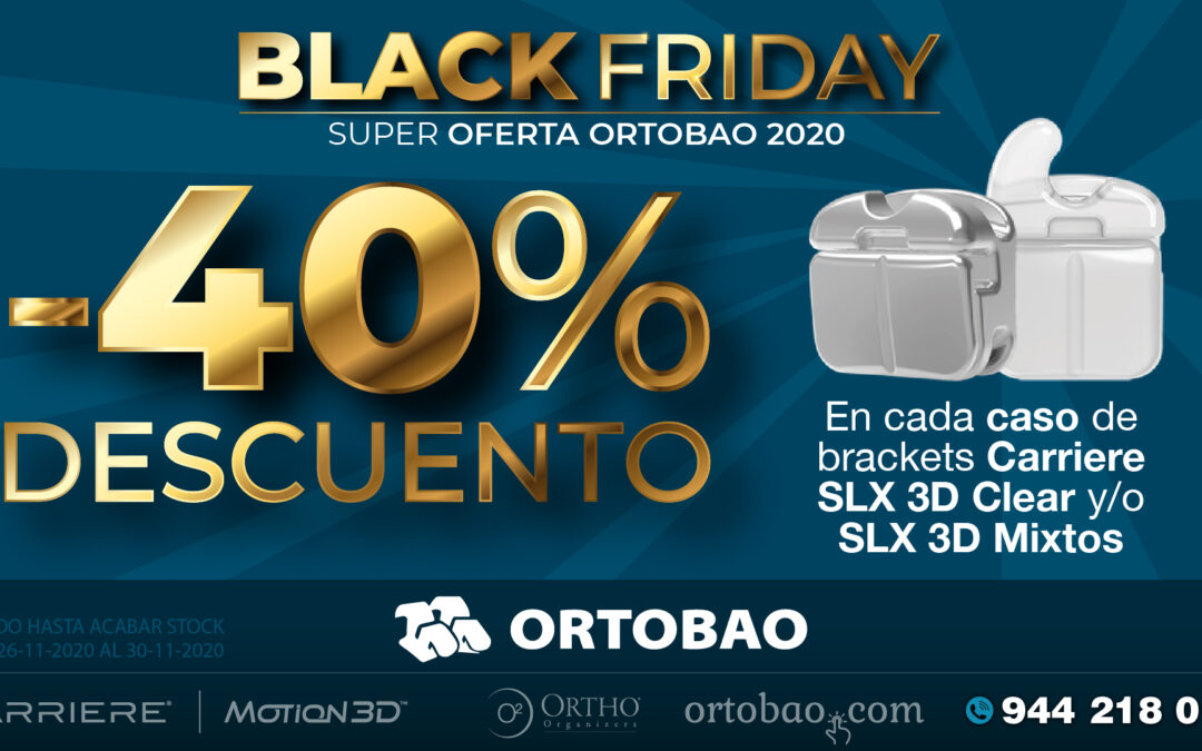 Black Friday: -40% de descuento en casos de brackets Carriere SLX 3D Clear y/o SLX 3d mixtos